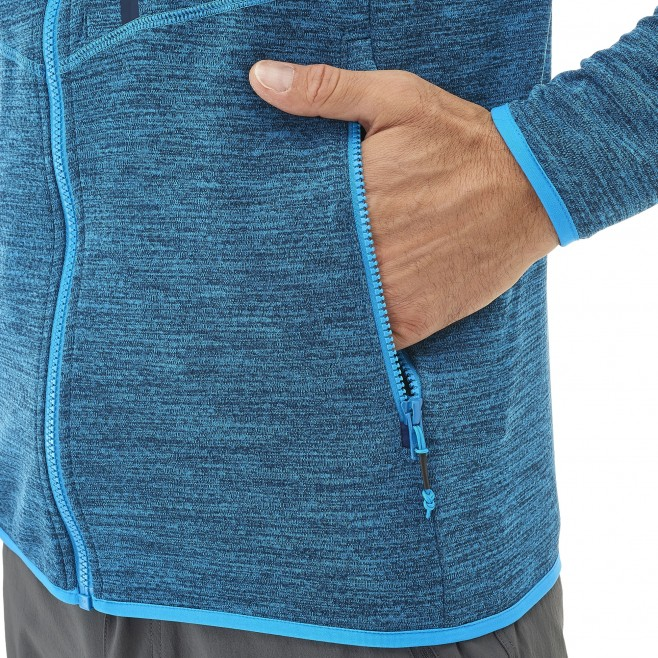 Men's lightweight fleecejacket - hiking - blue LOKKA HOODIE Millet 2