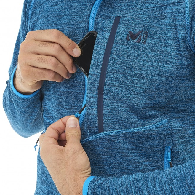 Men's lightweight fleecejacket - hiking - blue LOKKA HOODIE Millet 3