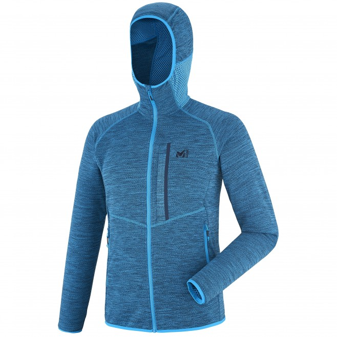 Men's lightweight fleecejacket - hiking - blue LOKKA HOODIE Millet