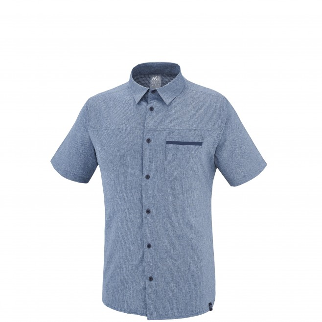 Trekking - Men's shirt - Blue ARPI SHIRT SS Millet
