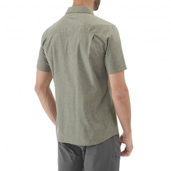 Trekking - Men's shirt - Grey ARPI SHIRT SS Millet 3