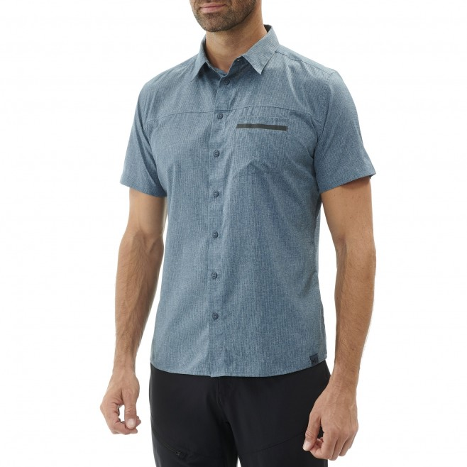Men's short sleeves shirt - hiking - navy-blue ARPI SHIRT SS Millet 4