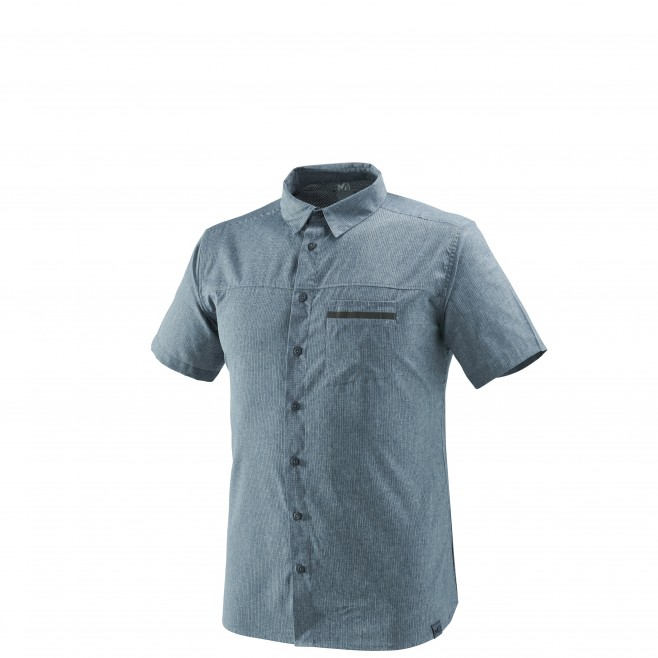 Men's short sleeves shirt - hiking - navy-blue ARPI SHIRT SS Millet