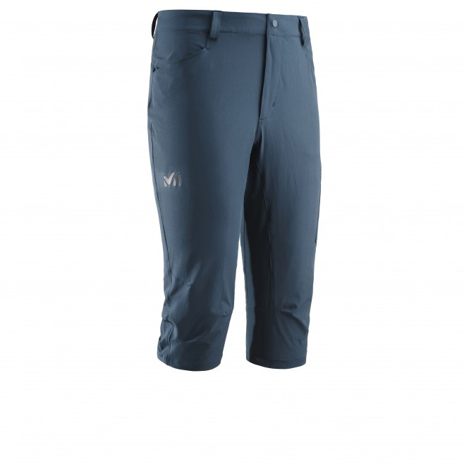 Men's pant - hiking - navy-blue WANAKA STRETCH 3/4 PANT Millet