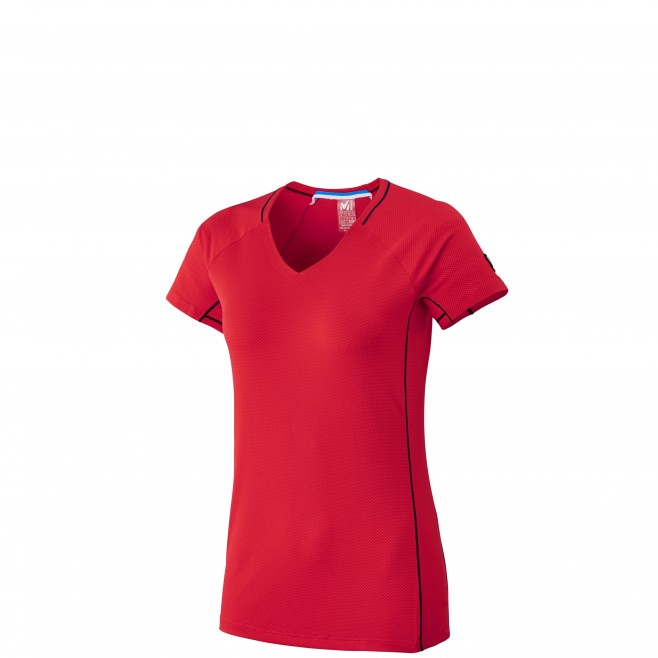 Women's short sleeves t-shirt - mountaineering - red LD TRILOGY DELTA TS SS Millet