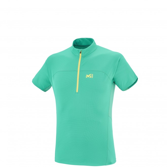 Trail running - Men's t-shirt - Green LTK INTENSE ZIP SS Millet