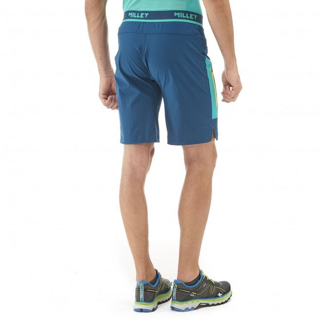 Men's bermuda - trail running - black LTK SPEED LONG SHORT Millet 3