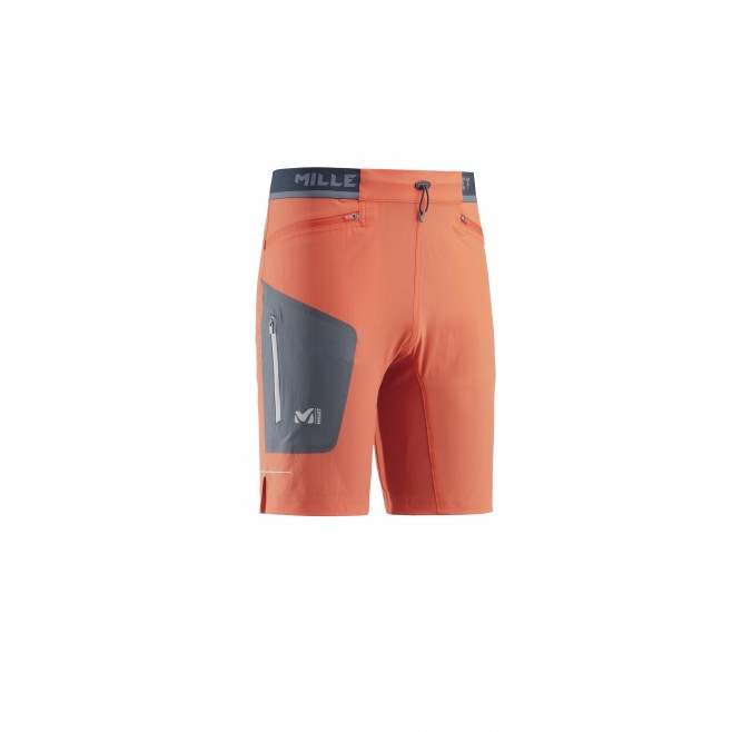 Men's bermuda - trail running - orange LTK SPEED LONG SHORT Millet