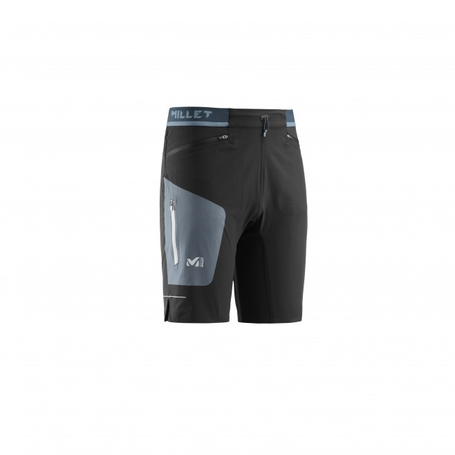 Men's bermuda - trail running - black LTK SPEED LONG SHORT Millet