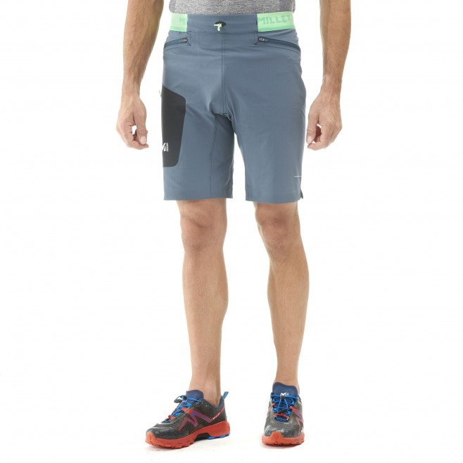 Men's bermuda - trail running - navy-blue LTK SPEED LONG SHORT Millet 3