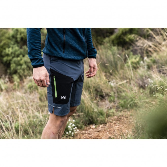 Men's bermuda - trail running - navy-blue LTK SPEED LONG SHORT Millet 2