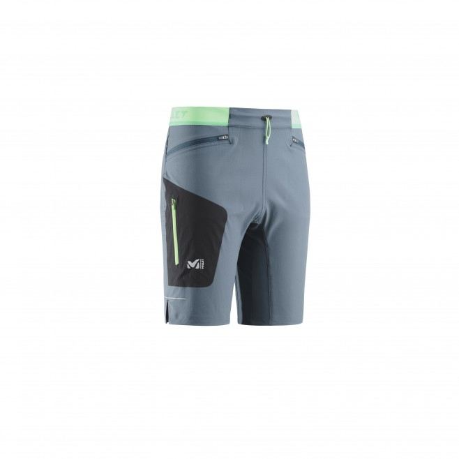 Men's bermuda - trail running - navy-blue LTK SPEED LONG SHORT Millet
