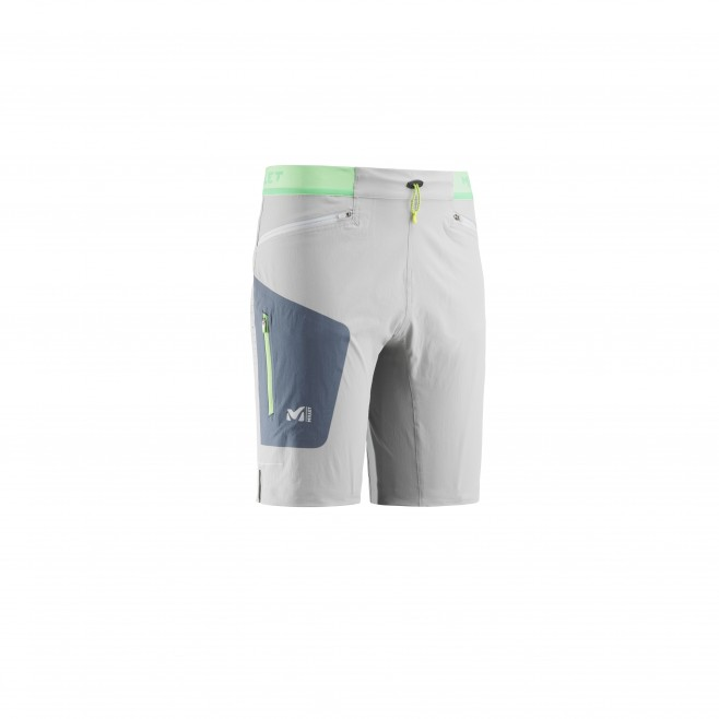Men's bermuda - trail running - grey LTK SPEED LONG SHORT Millet