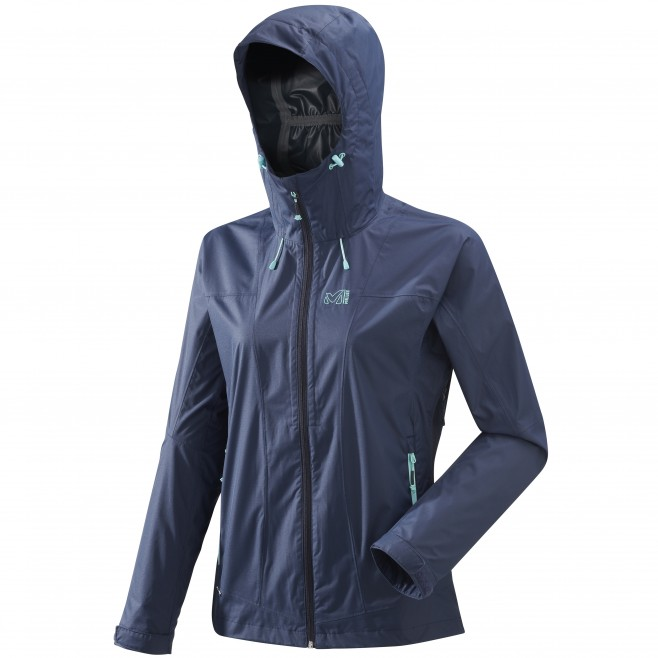 Women's waterproof jacket - hiking - navy-blue LD FITZ ROY 2.5L II JKT Millet