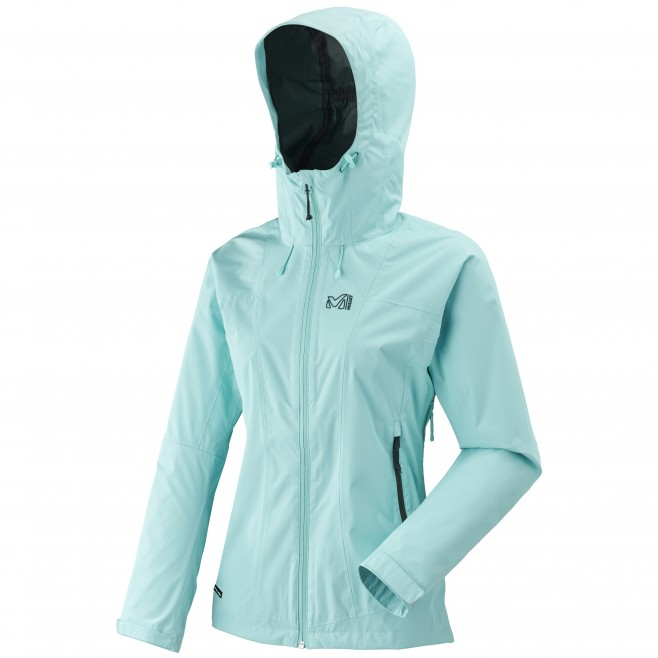 Women's waterproof jacket - hiking - turquoise LD FITZ ROY 2.5L II JKT Millet