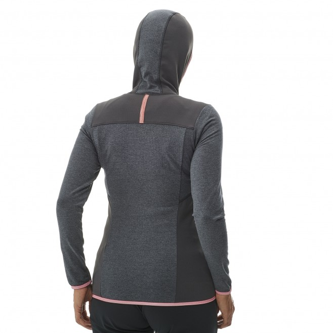 Women's lightweight fleecejacket - hiking - grey LD SENECA TECNO HOODIE Millet 2