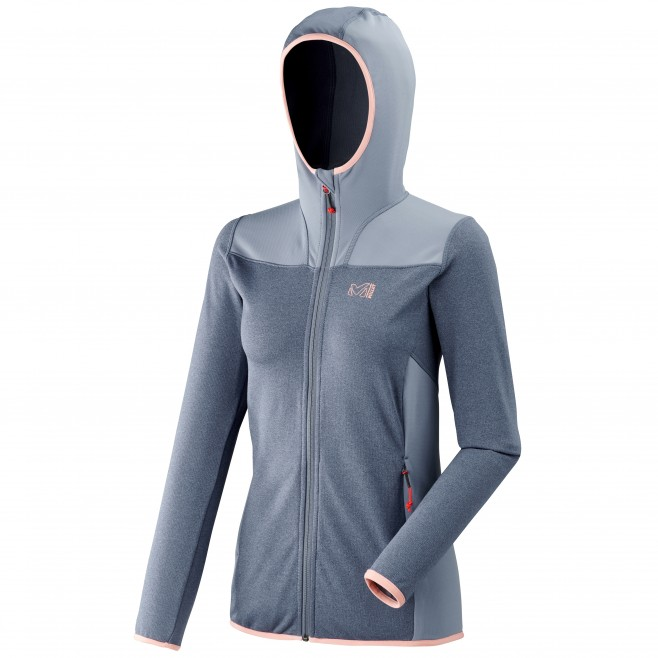 Women's lightweight fleecejacket - hiking - blue LD SENECA TECNO HOODIE Millet