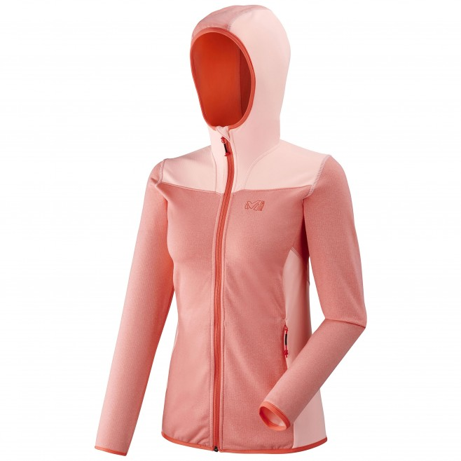 Women's lightweight fleecejacket - hiking - pink LD SENECA TECNO HOODIE Millet
