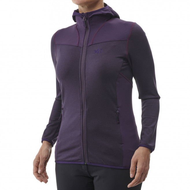 Women's lightweight fleecejacket - hiking - pink LD SENECA TECNO HOODIE Millet 2