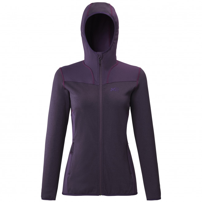 Women's lightweight fleecejacket - purple SENECA TECNO HOODIE W Millet