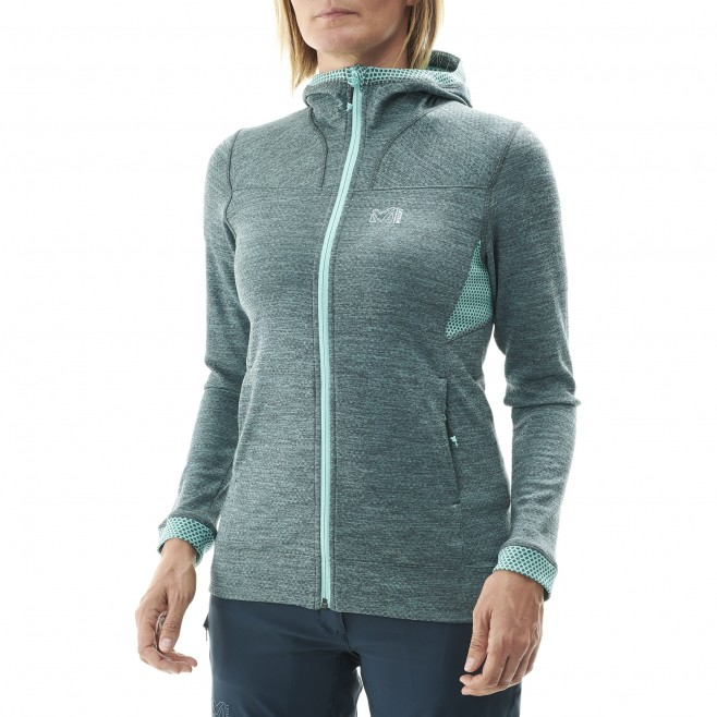 Women's lightweight fleecejacket - hiking - green LD LOKKA HOODIE Millet 3
