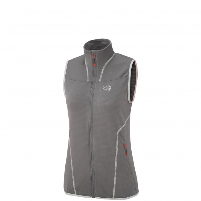 Trekking - Women's fleece jacket - Grey LD BACALAR VEST Millet