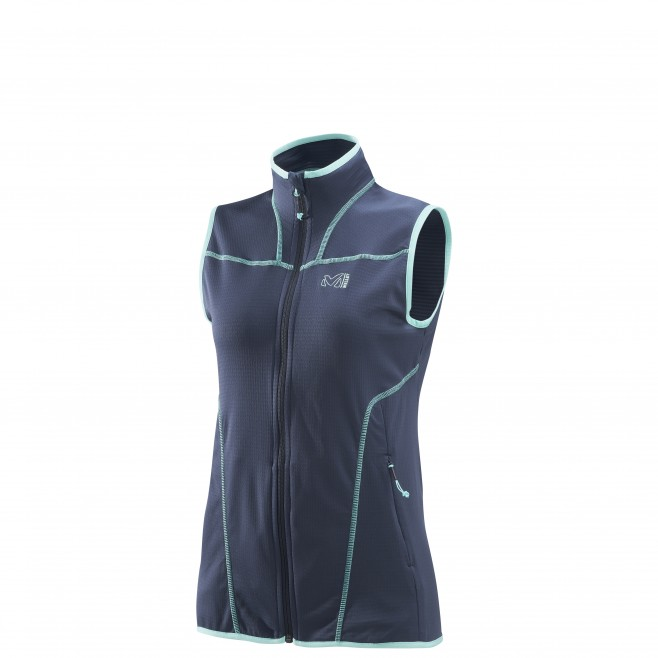 Trekking - Women's fleece jacket - Navy-Blue LD BACALAR VEST Millet