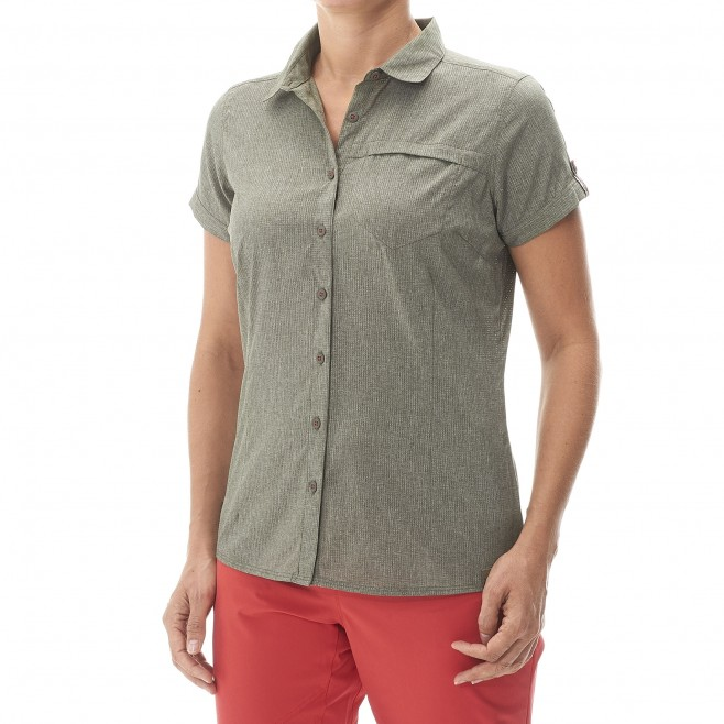Women's short sleeves shirt - hiking - pink LD ARPI SHIRT SS Millet 2