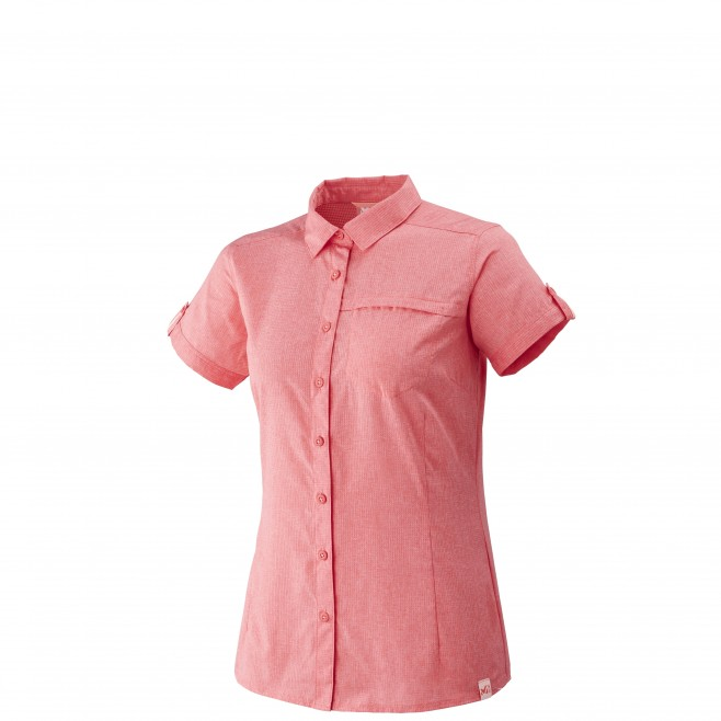 Women's short sleeves shirt - hiking - pink LD ARPI SHIRT SS Millet