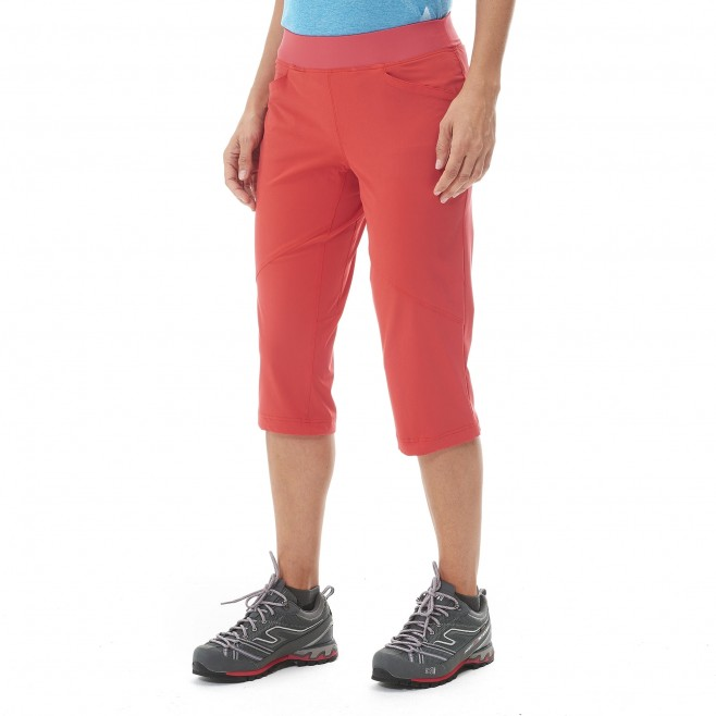 Women's pant - hiking - pink LD WANAKA STRETCH 3/4 PANT Millet 2