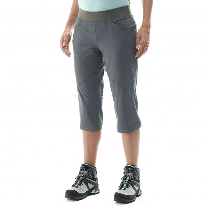Women's pant - hiking - khaki LD WANAKA STRETCH 3/4 PANT Millet 4