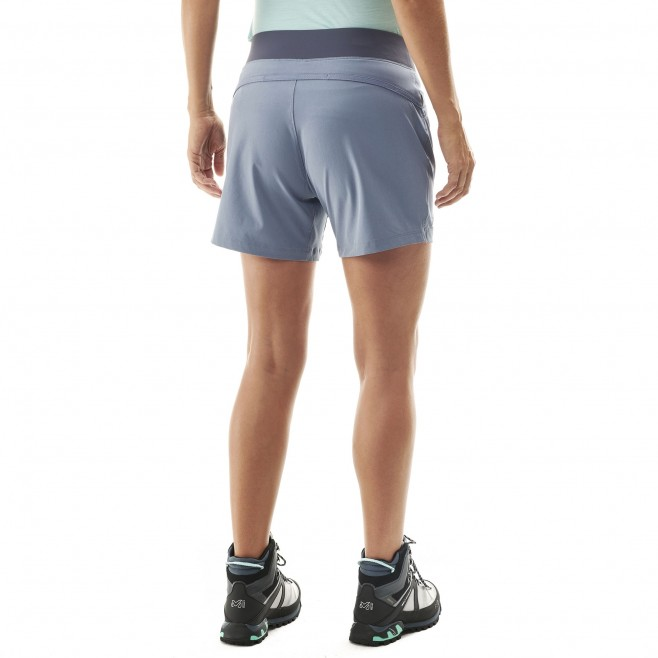 Women's short - hiking - blue LD WANAKA STRETCH SHORT Millet 3