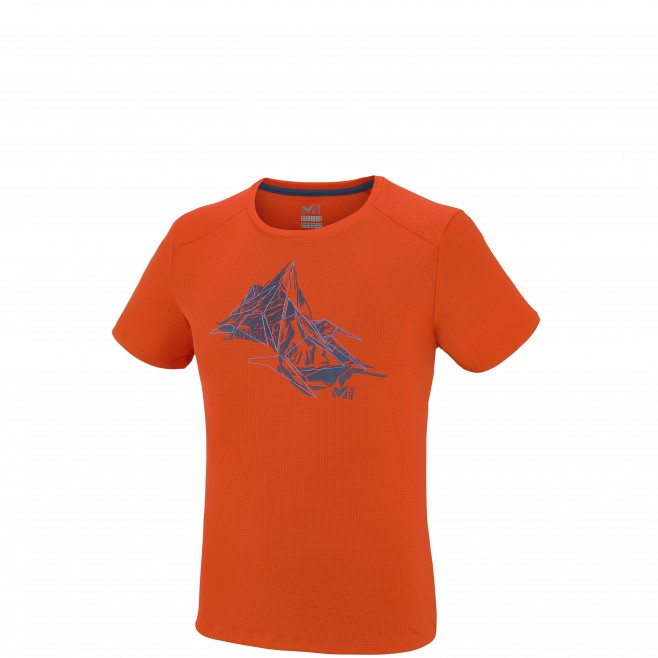 Mountaineering - Men's t-shirt - Orange NEEDLES TS SS Millet