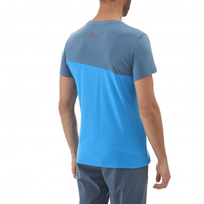 Climbing - Men's t-shirt - Blue GOLDEN TS SS Millet 3