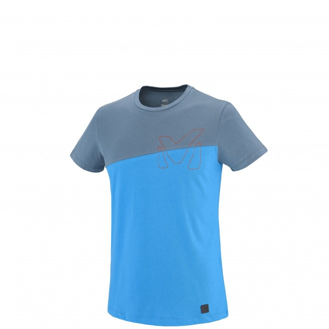 Climbing - Men's t-shirt - Blue GOLDEN TS SS Millet