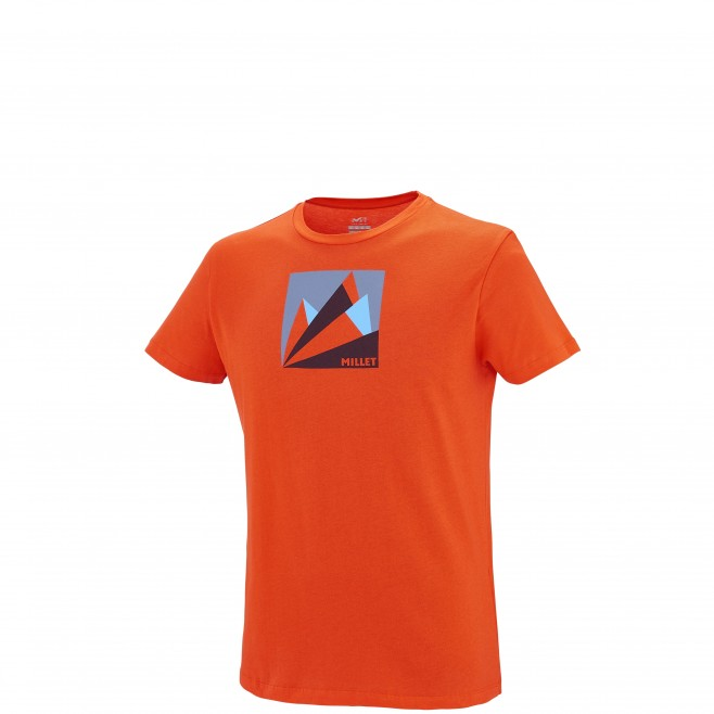 Climbing - Men's t-shirt - Orange MILLET FAN MOUNTAIN TS SS Millet