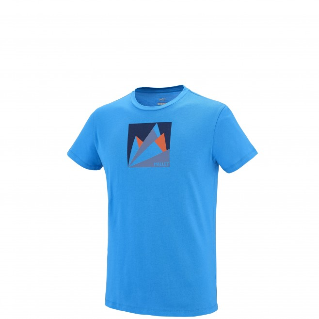 Climbing - Men's t-shirt - Blue MILLET FAN MOUNTAIN TS SS Millet