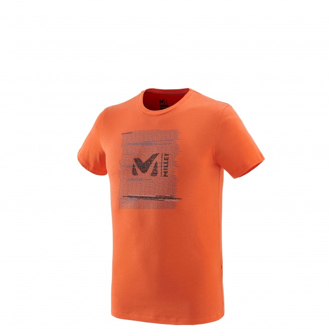 Men's short sleeves t-shirt - climbing - orange MILLET RISE UP TS SS Millet