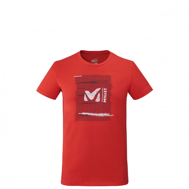 Men's short sleeves tee-shirt - red MILLET RISE UP TS SS M Millet