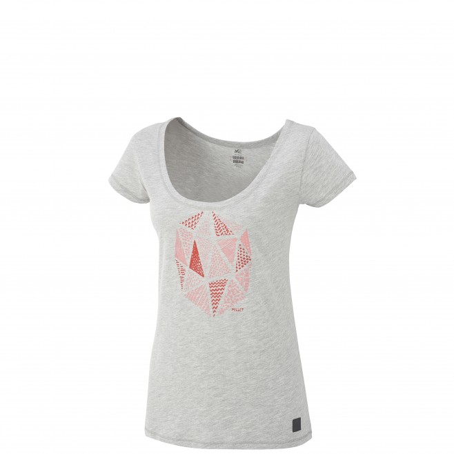 Women's short sleeves t-shirt - climbing - grey LD GOLDEN TS SS Millet
