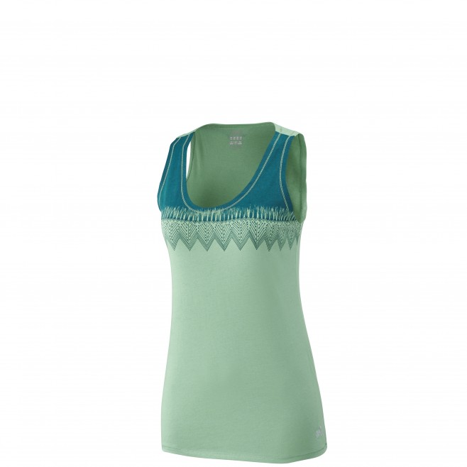 Women's tank top - climbing - green LD BARRINHA TANK Millet