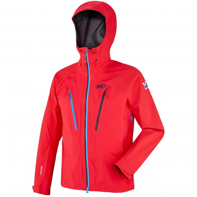Mountaineering - Men's jacket - Red TRILOGY V ICON DUAL GTX PRO JKT Millet