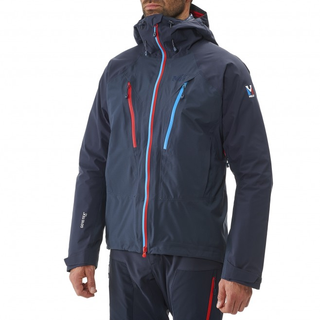Mountaineering - Men's jacket - Red TRILOGY V ICON DUAL GTX PRO JKT Millet 8