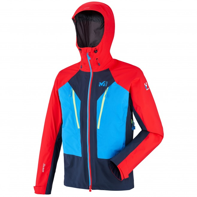 Men's gore-tex jacket - mountaineering - red TRILOGY V ICON DUAL GTX PRO JKT Millet