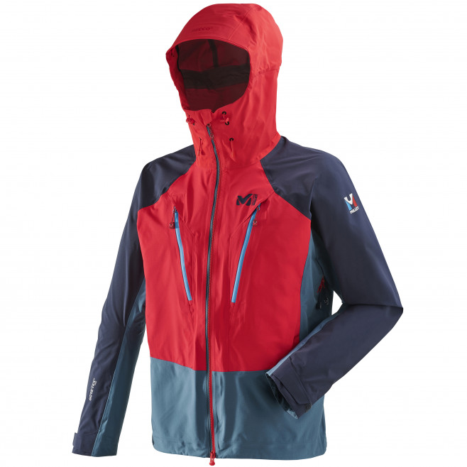 Men's gore-tex jacket - red TRILOGY V ICON DUAL GTX PRO JKT Millet