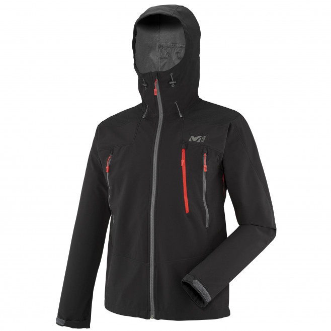 Men's softshell jacket - black K SHIELD HOODIE Millet