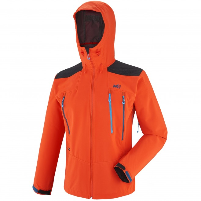 Men's softshell jacket - approach - orange K SHIELD HOODIE Millet
