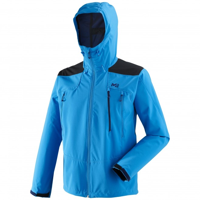 Men's wind resistant jacket - blue K SHIELD HOODIE M Millet