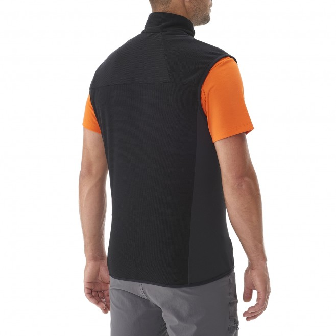 Trekking - Men's fleece jacket - Black VECTOR GRID VEST Millet 3
