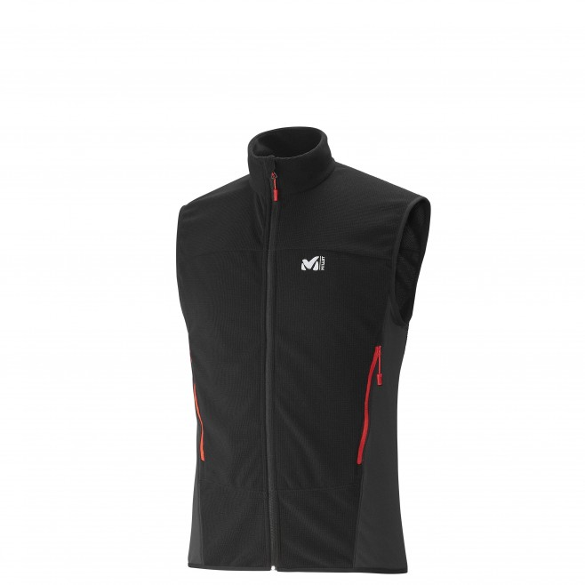 Trekking - Men's fleece jacket - Black VECTOR GRID VEST Millet